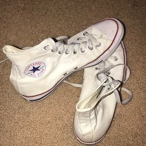 White high top converse (: